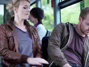 Knallerfrauen - Woman Groped By Sleeping Guy On A Bus