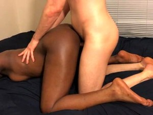 Black Teen Sits On White Guys Face And Gets Fucked From Behind