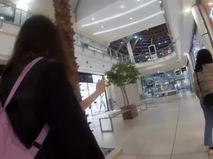 Public Cumwalk At The Mall!!! Sissi Goes Around With Her Face Full Of Sperm
