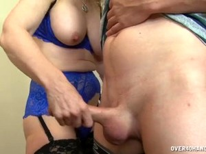 Experienced Milf Jerks A Young Cock
