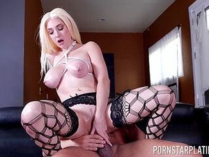 Her Big Boobs Are Shaking Hard While The Dick Rips Through Her Cunt