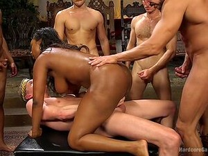 Nasty Interracial For The Busty Ebony