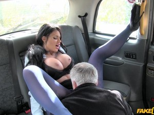 Fake Taxi Porn Special With A Busty Porn Doll
