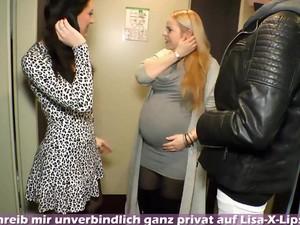 German Pregnant Mom Mother Do Homemade Threesome Ffm