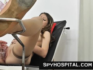 Physical Exam Of Hot Babe Caughty On Hidden Cam