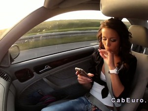 Taxi Driver Fucks Beautiful Czech Brunette Babe