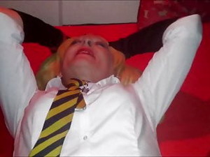 Joy In Her School Uniform Gets Fucked And Caned