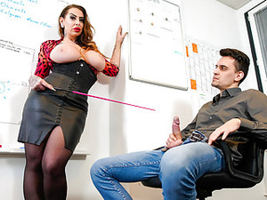 LETSDOEIT - Busty MILF Knows To Well To Treat The Problem