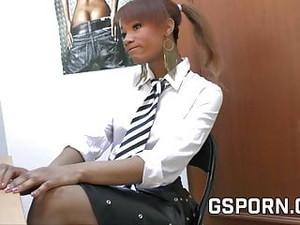 Ebony Teen Fucked In The Office