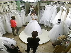 Spy Camera In The Salon Of Wedding Dresses 8 (sorry No Sound