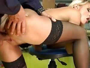 Black Stockings NATALLI DI ANGELO Hard Anal Fucking