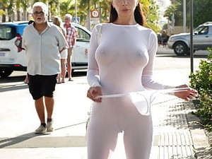 Transparent Dress In Public