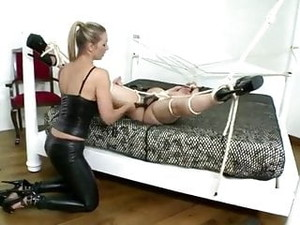 Horny Busty Lesbian Tied And Dominated