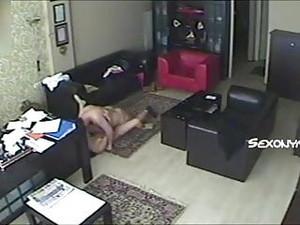 Patronu Isyerinde Sekreterini Gizli Kamerayla Sikti