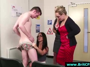 British Office Babes Strip Horny CFNM Amateur