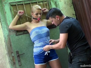Gagged Czech Blondie Nikky Dream Is Teased With Buzzing Vibrator