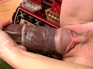 Full Bosomed Nympho Pounds Her Pussy With Her Big Black Dildo