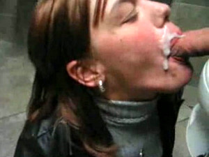Ginger Haired Party Slut Gives Me Head In Public Restroom