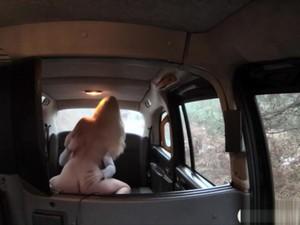 Huge Juggs Amateur Blonde Passenger Slammed In The Cab