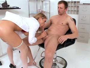 Hot Blonde Doctor Blowjob Big Dick Anal Cumshot