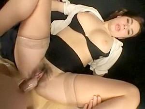 Amazing Homemade Brunette, Stockings Porn Video