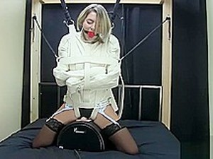 Straight Jacket Fixed To A Sybian