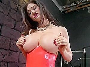 Tit Smothering Tied Slave - Hard