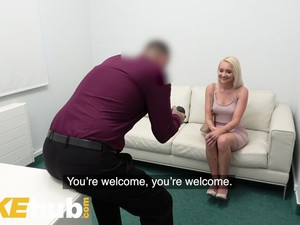 Fake Agent Desk Fuck For Petite Blonde Marilyn Sugar