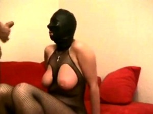 Electro Bdsm Slave And Fetish Latex Big Titted Domina