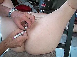Slave's Pussy Getting Pierced
