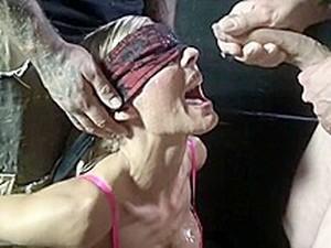 Blond Wife Gets Bukkake In Danish Sex Club