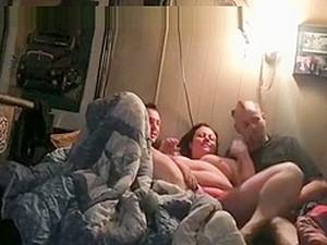 Dirty Talking Bbw Slut Tries A Spitroasting Threesome With 2 Weird Guys