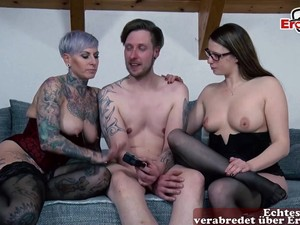 German Anal Lesbians Try Her Asshole First Time