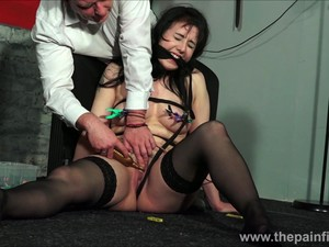 Bound And Gagged Honesty Calliaro Nipple Clamped And Punished In Painful Erosolator Orgasm And Kinky Amateur BDSM Session With Brunette European Slavegirl Tit Tormented And Tied
