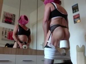 Red Head Bimbo Fuckpig Tiny Clitty Sissy Toilet Slave Humiliation