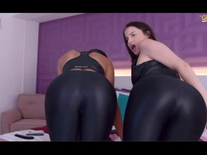 Two Girls In Shiny Spandex