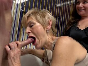 Mature Shares Dick With Best Friend During Amateur Trio