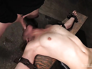 Slave Used Like A Sex Toy By Three Guys