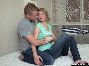 Blonde Teen's Fucked Silly By A Big Fat Cock