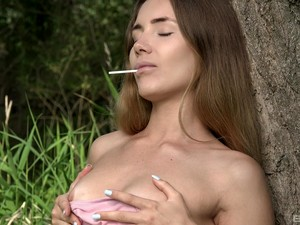 Sensual Outdoors Masturbation Scene With Amazing Jemma Valentine