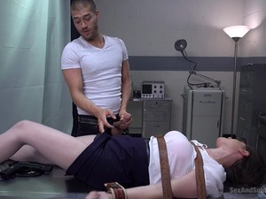 Patiend With A Massive Pecker Ties Up His Doctor Casey Calvert