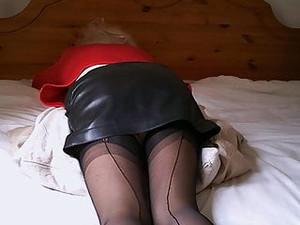 Black Leather Miniskirt