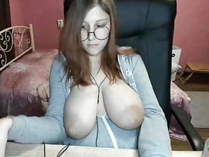 Glasses Girl With Thick Saggy Puff Tits
