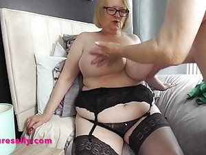 Sally Has Her Massive Tits Felt And Groped