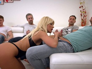 Kinky Hungarian Busty Blonde Tiffany Rousso Is Ready To Work On Dicks