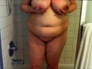 Amateur Self Taped Shower Solo Show Performed By Chubby Mature Whore