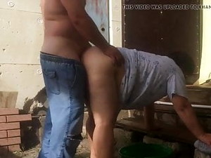 Fat Village Milkmaid Doggystyle Fuck Near The Village House