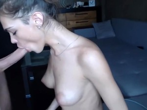 Teen Takes A Deep Blow Job