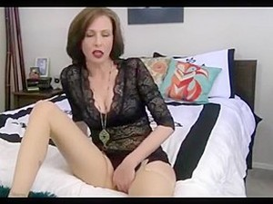 Blackhaired Mom Talks Dirty  Rubbing Her Clit Under Panty