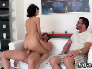 Do The Wife - Wild Wives Riding Cock In Front Of Hubby Compilation Part 1
